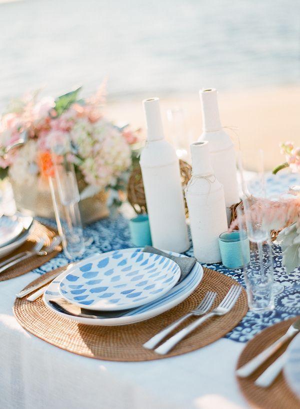 Gorgeous Beach Wedding Table
