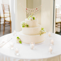 Bunting Floral Wedding Cakes
