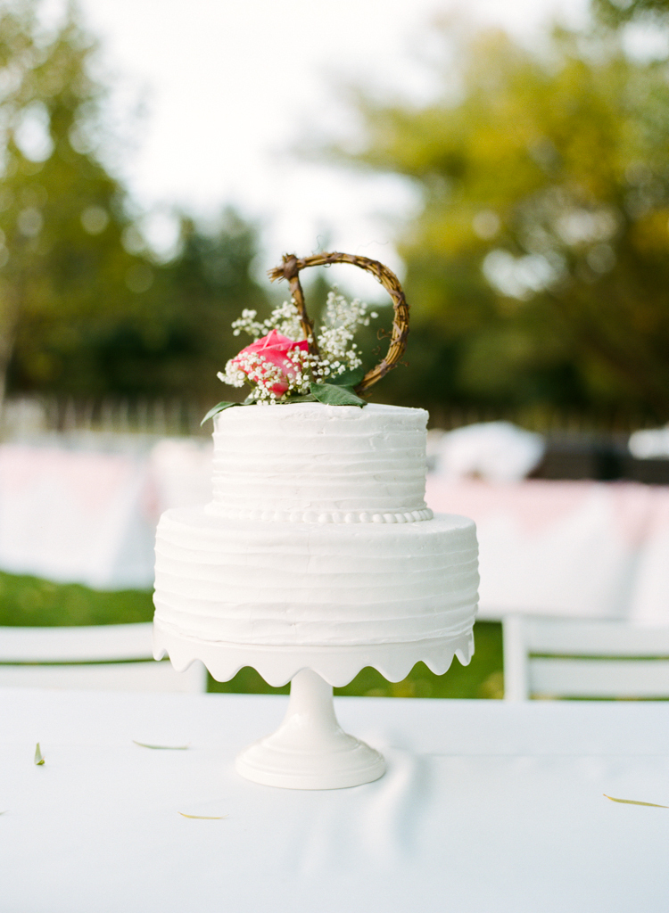 Monogrammed Floral Wedding Cakes