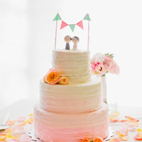 Ombre Floral Wedding Cakes