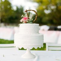 Monogrammed Floral Wedding Cakes