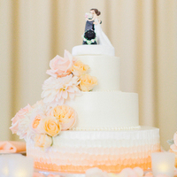 Cascading Floral Wedding Cakes