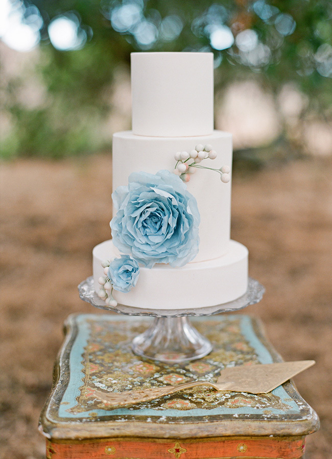 Blue Floral Wedding Cakes