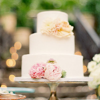 Peony Floral Wedding Cakes
