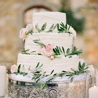 Eucalyptus Floral Wedding Cakes