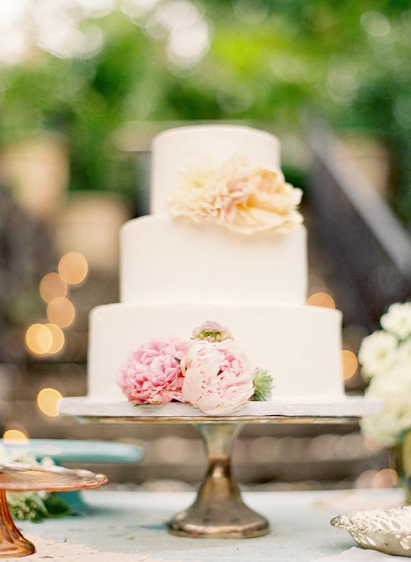 Peony Floral Wedding Cakes