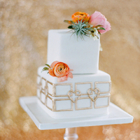 Heart-Themed Floral Wedding Cakes
