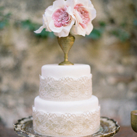 Lace Doilies Floral Wedding Cakes