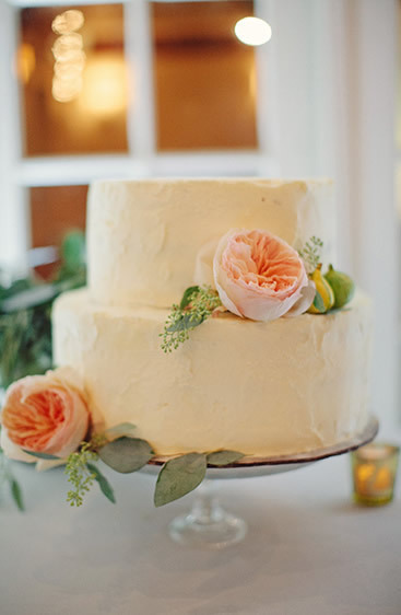 Ivory Floral Wedding Cakes