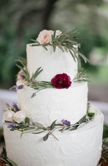Vineyard Floral Wedding Cakes