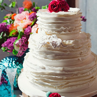 White Floral Wedding Cakes