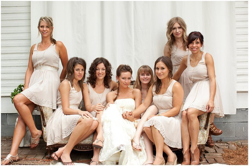 Modern Retro Bridesmaids