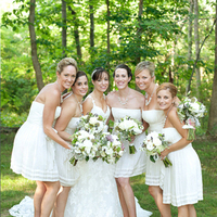 Spring White Bridesmaids
