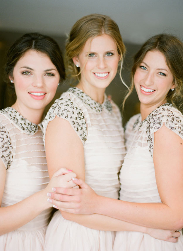 Studded Bridesmaids Dresses
