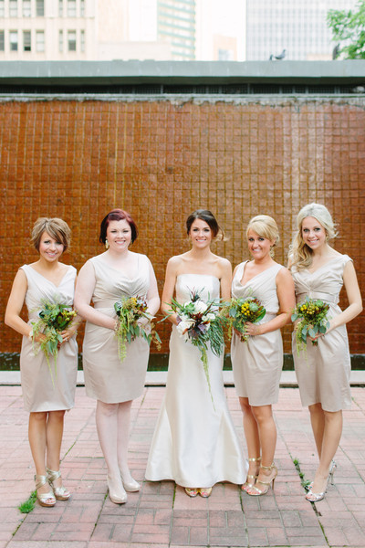 Glam Neutral Bridesmaids Dresses
