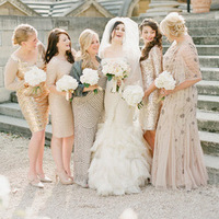 Sequin Neutral Bridesmaids Dresses