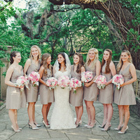Tan Bridesmaids Dresses