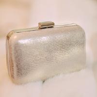 Silver Box Clutch