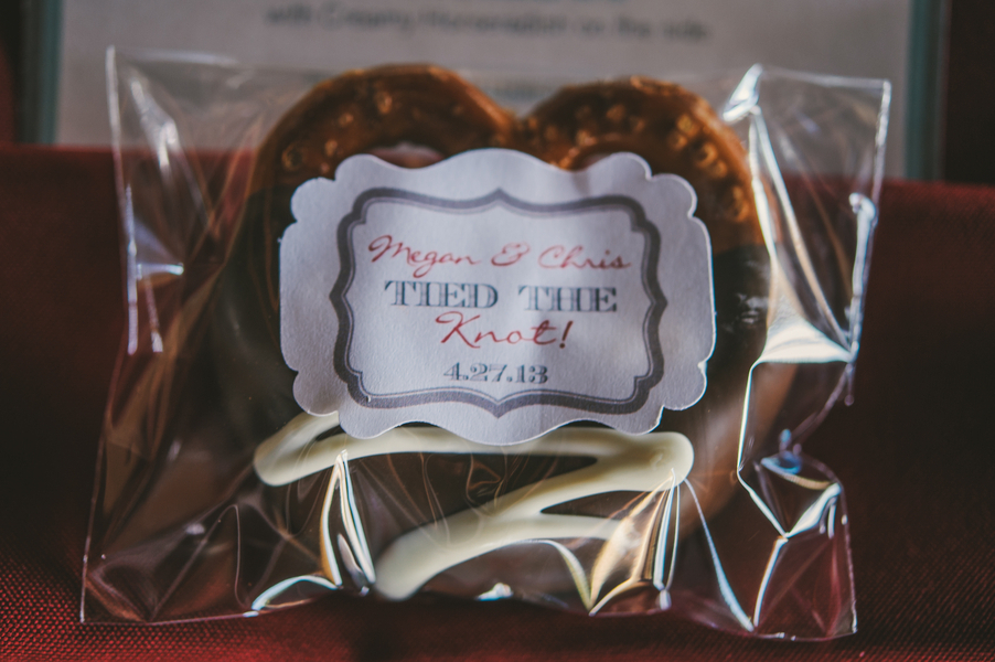 Chocolate Covered Pretzel Wedding Favor