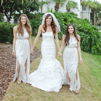 Silver Sequin Bridesmaids Dresses