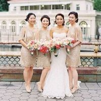 Light gold dresses for bridesmaids