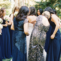 Navy Sequin Bridesmaids Dresses