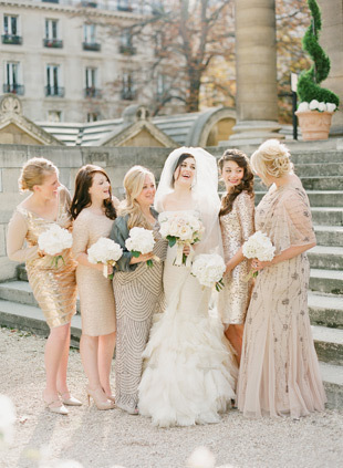 Glam Taupe Bridesmaids Dresses
