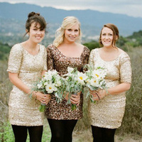 Mix and Match Gold Bridesmaids Dresses