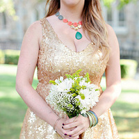 Springy Gold Bridesmaid Dress