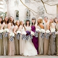 Glitzy Gold Bridesmaids Dresses