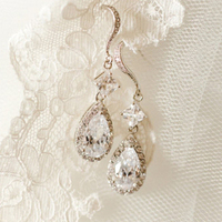 Classic Diamond Drop Earrings