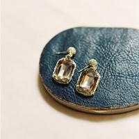 Vintage Taupe Drop Earrings