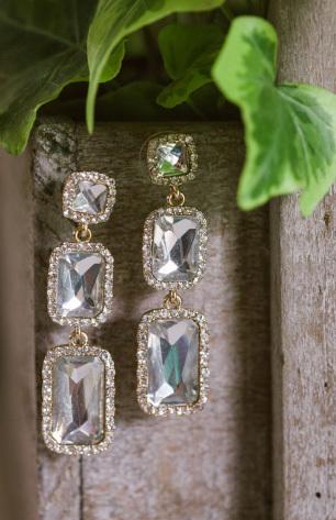 3-Stone Drop Earrings
