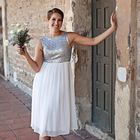 Colorblock Bridesmaid Dress