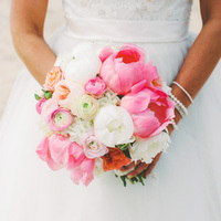 Pink and White Beach Bouquet