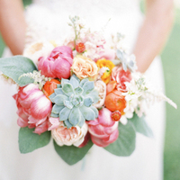Pink and Green Beach Bouquet