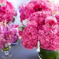 Pink Hydrangea Centerpiece