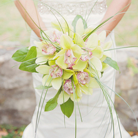 Green Orchid Beach Bouquet