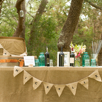 Burlap Guestbook Table