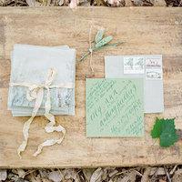 Green Garden Wedding Invitations