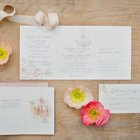 Romantic Garden Wedding Invitations