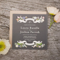 Modern Garden Wedding Invitations