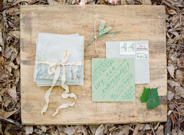 Green Garden Wedding Invitations