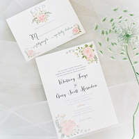 Pink Garden Wedding Invitations