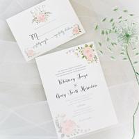 Pink Garden Wedding Invitations