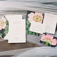 Peony Garden Wedding Invitations