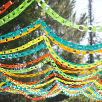 Paper Chain Ceremony Decor