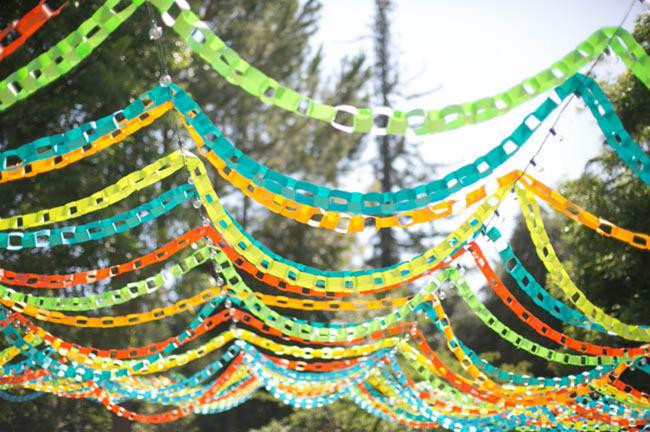 Paper Chain Ceremony Decor