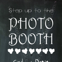 Photo Booth Insert - Chalkboard