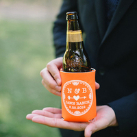 Personalized orange coozies